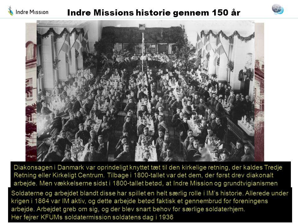 Diakonsagen i Danmark var oprindeligt knyttet tæt til den kirkelige retning, der kaldes Tredje Retning eller Kirkeligt Centrum. Tilbage i 1800-tallet