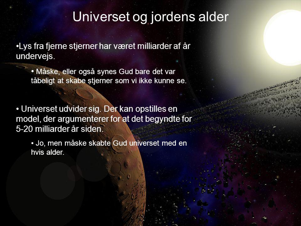 •Lys fra fjerne stjerner har været milliarder af år undervejs.