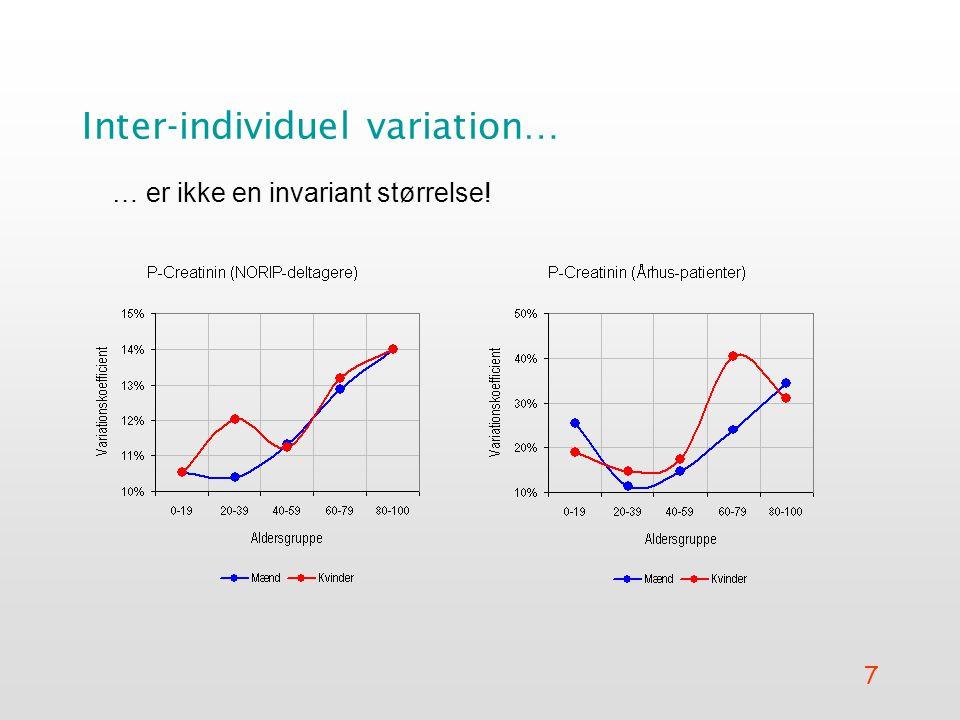 7 Inter-individuel variation… … er ikke en invariant størrelse!