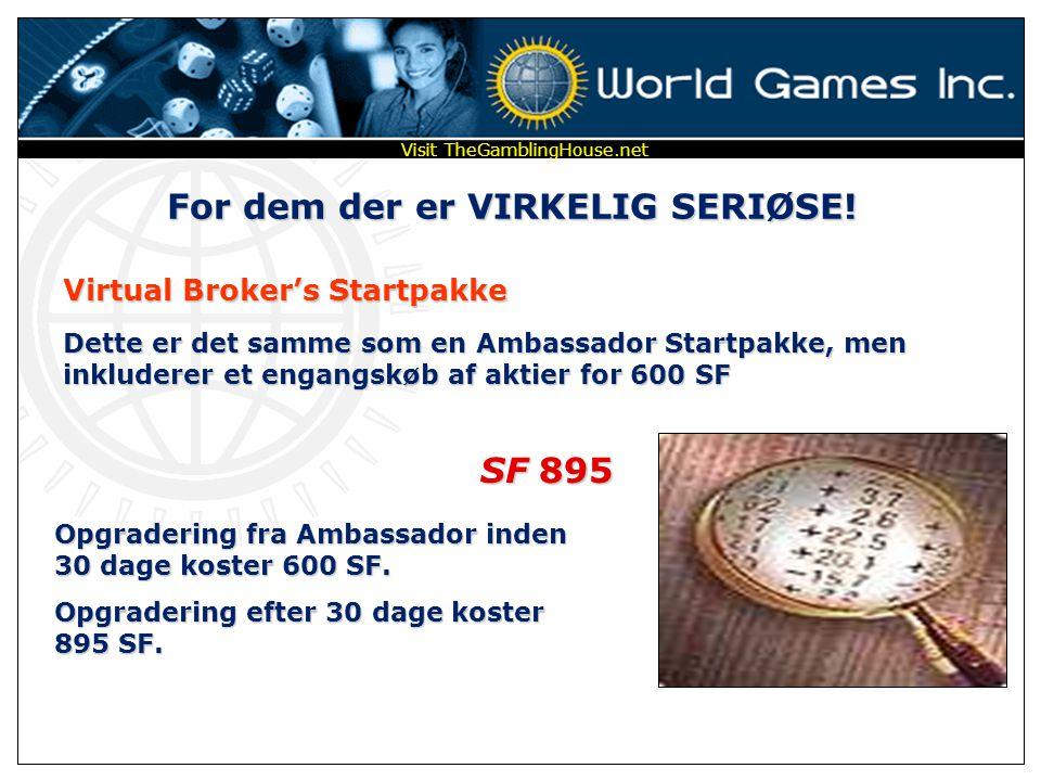 For dem som ønsker at opnå ØKONOMISK FRIHED! Ambassador Medlemspakke … inkluderet gratis indtægtscenter Personlig passordbeskyttet Webside Software fo