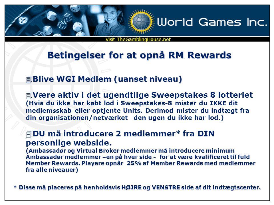 DU 75 5 5 5 Medlemspakker - Mæglerafgift – Sweepstakes - Offshore Debit Card - Casino Units flytter op igennem HVERT center i rækken og op til dit Du