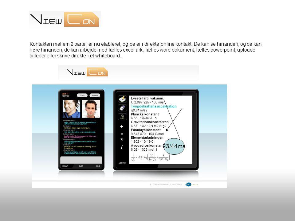 Kontakten mellem 2 parter er nu etableret, og de er i direkte online kontakt.