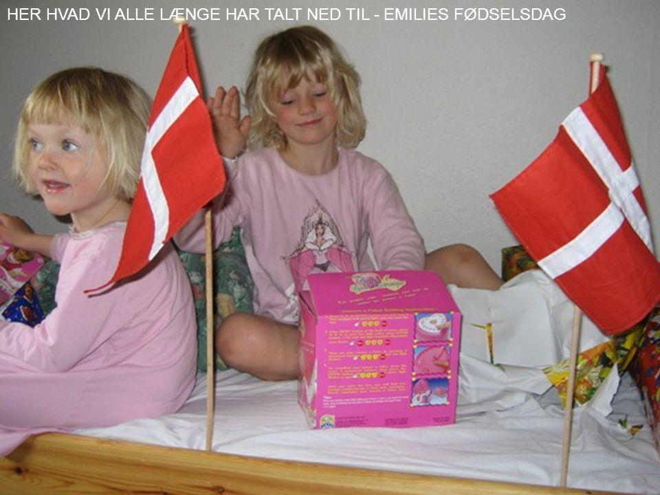 HER HVAD VI ALLE LÆNGE HAR TALT NED TIL - EMILIES FØDSELSDAG