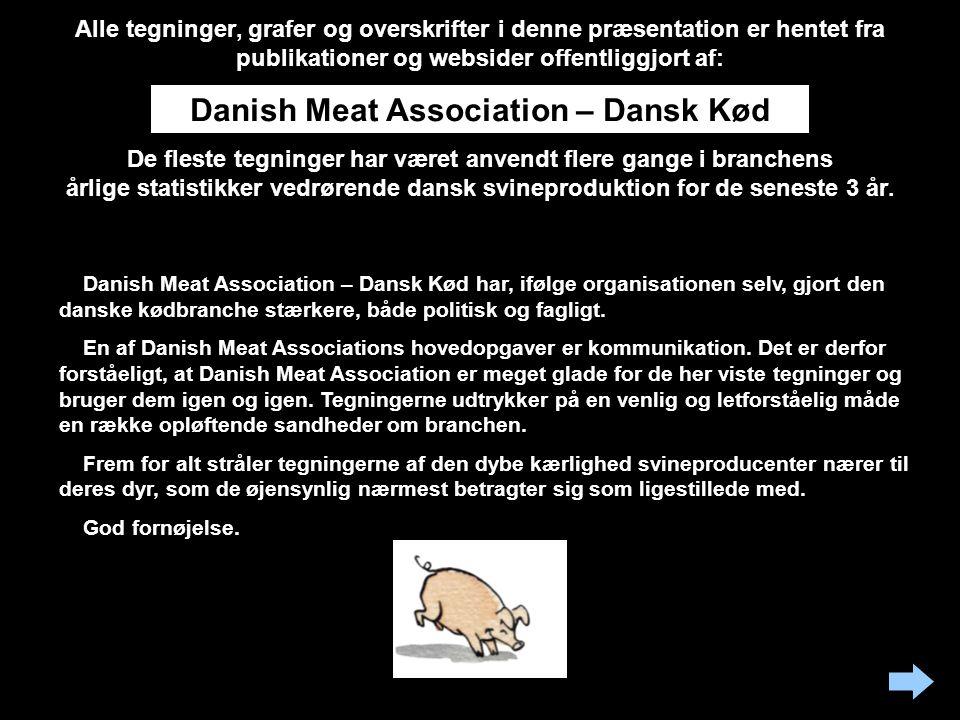 Alle tegninger, grafer og overskrifter i denne præsentation er hentet fra publikationer og websider offentliggjort af: De fleste tegninger har været anvendt flere gange i branchens årlige statistikker vedrørende dansk svineproduktion for de seneste 3 år.