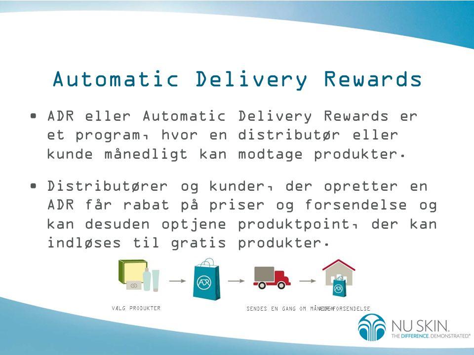 Formålet med ADR •At give distributører et loyalitetsprogram, der giver dem muligheden for at fastholde nye kundeemner.