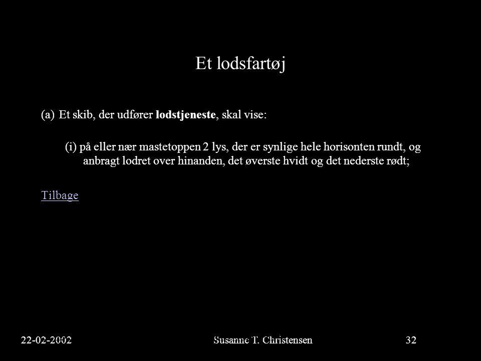 22-02-2002Susanne T.Christensen32 23-02-2002Susanne T.