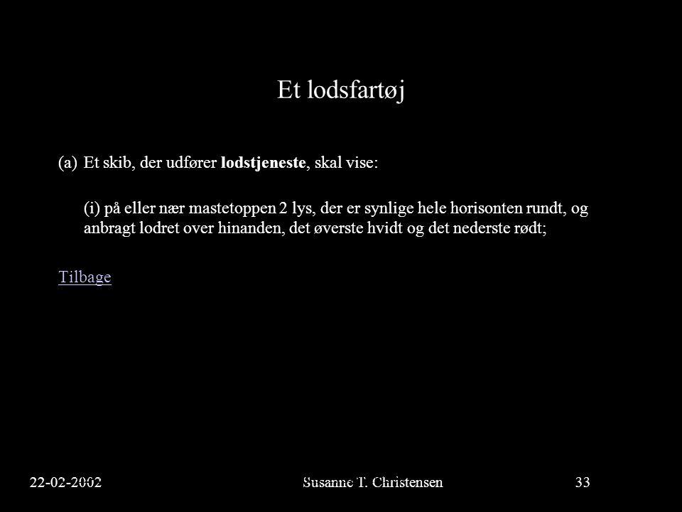 22-02-2002Susanne T.Christensen33 23-02-2002Susanne T.