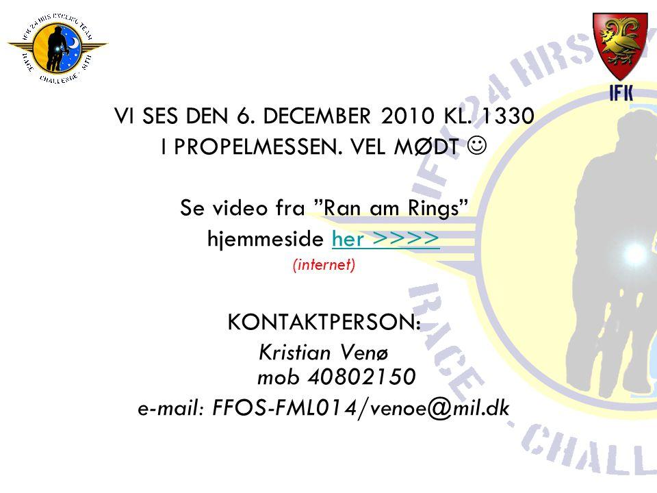 VI SES DEN 6. DECEMBER 2010 KL. 1330 I PROPELMESSEN.