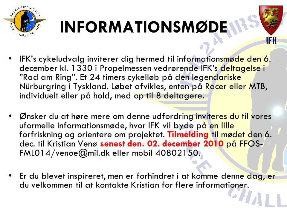 INFORMATIONSMØDE •IFK's cykeludvalg inviterer dig hermed til informationsmøde den 6.