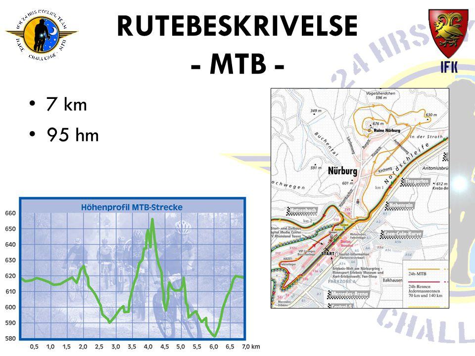 RUTEBESKRIVELSE - MTB - •7 km •95 hm