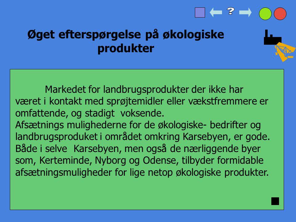 1.sikring af drikkevandsforsyninger (grundvand) 2.stimulering af øget efterspørgelse på økologiske produkter 3.hensyntagen til det lokale dyreliv Tre