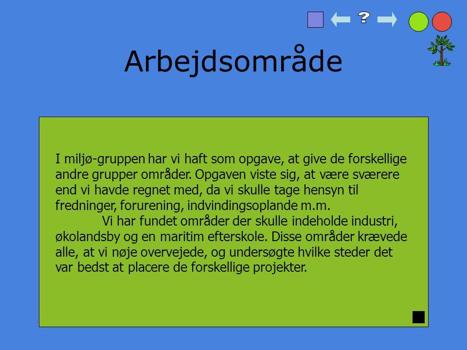 Begrundelse for valg af områder Strandbeskyttelse Økolandsby By Industri