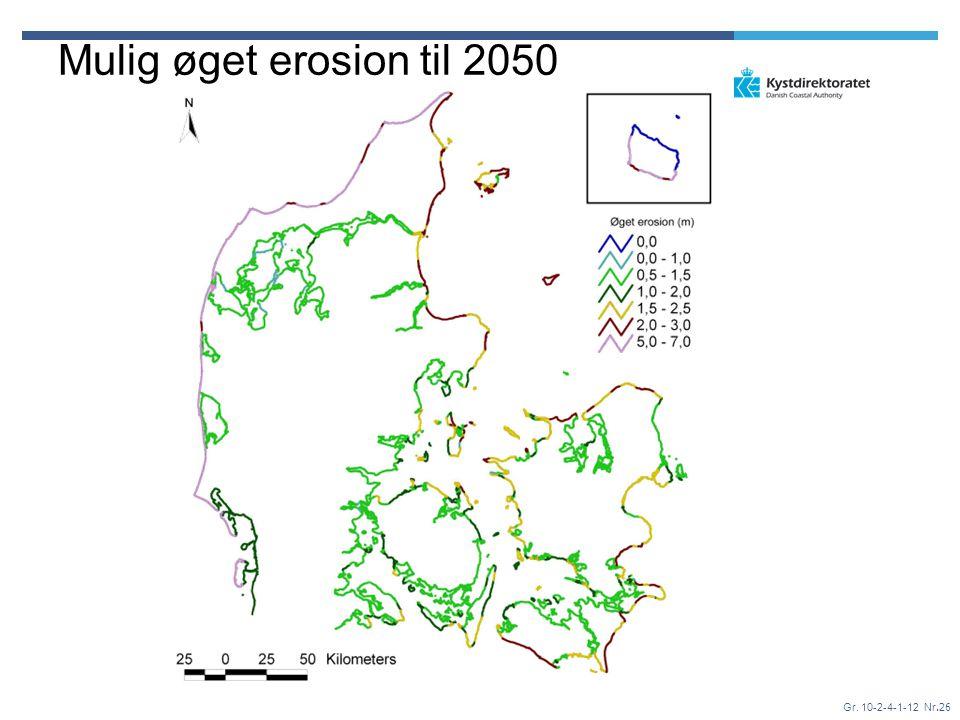Gr. 10-2-4-1-12 Nr.26 Mulig øget erosion til 2050