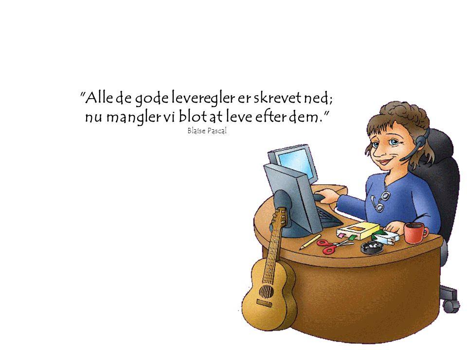 Du kan mislykkes flere gange, men du er ikke selv mislykket før du skyder skylden på de andre. Olaus Petri