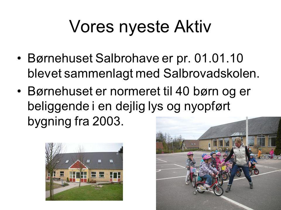 Vores nyeste Aktiv •Børnehuset Salbrohave er pr.01.01.10 blevet sammenlagt med Salbrovadskolen.