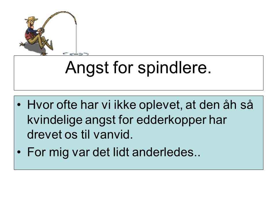 Angst for spindlere.