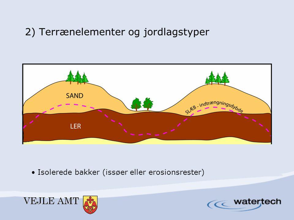 2) Terrænelementer og jordlagstyper • Bakkedrag (israndslinier – deformerede zoner)