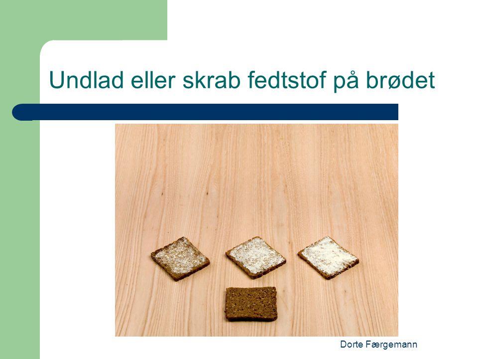 Dorte Færgemann Undlad eller skrab fedtstof på brødet