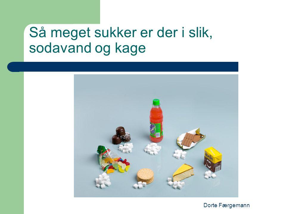 Dorte Færgemann Så meget sukker er der i slik, sodavand og kage