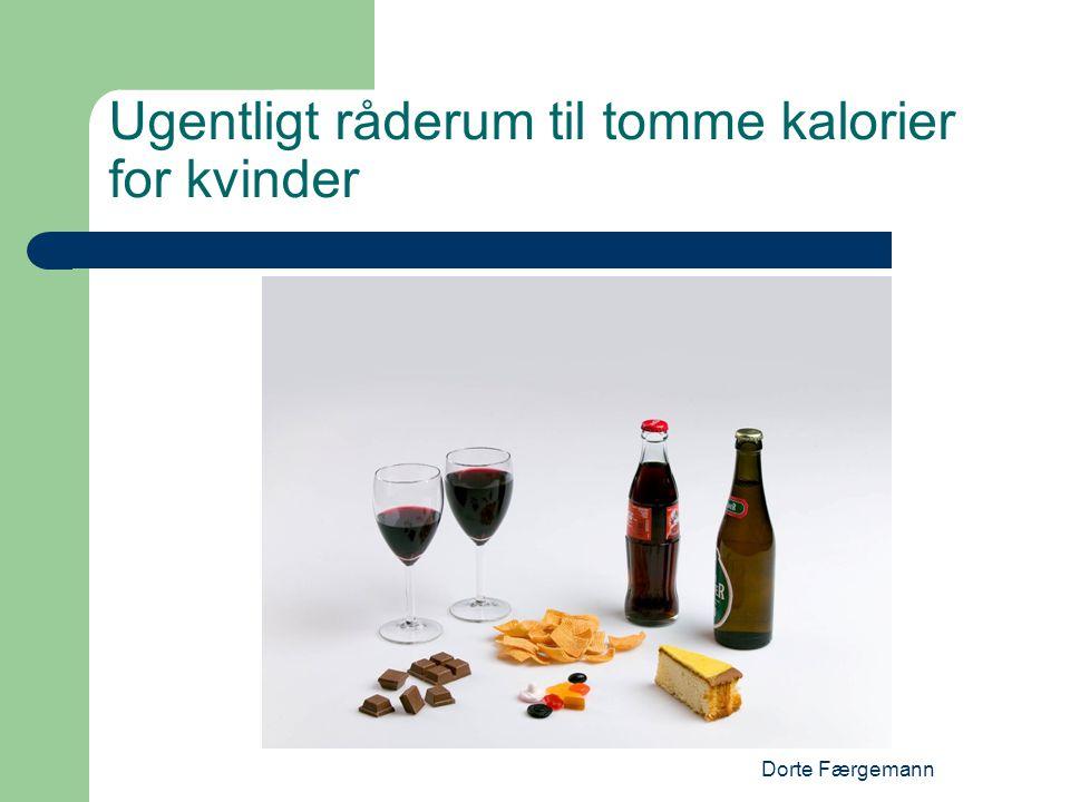 Dorte Færgemann Ugentligt råderum til tomme kalorier for kvinder