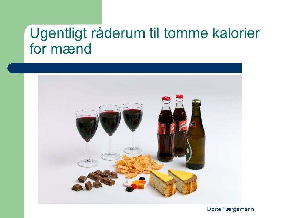 Dorte Færgemann Ugentligt råderum til tomme kalorier for mænd