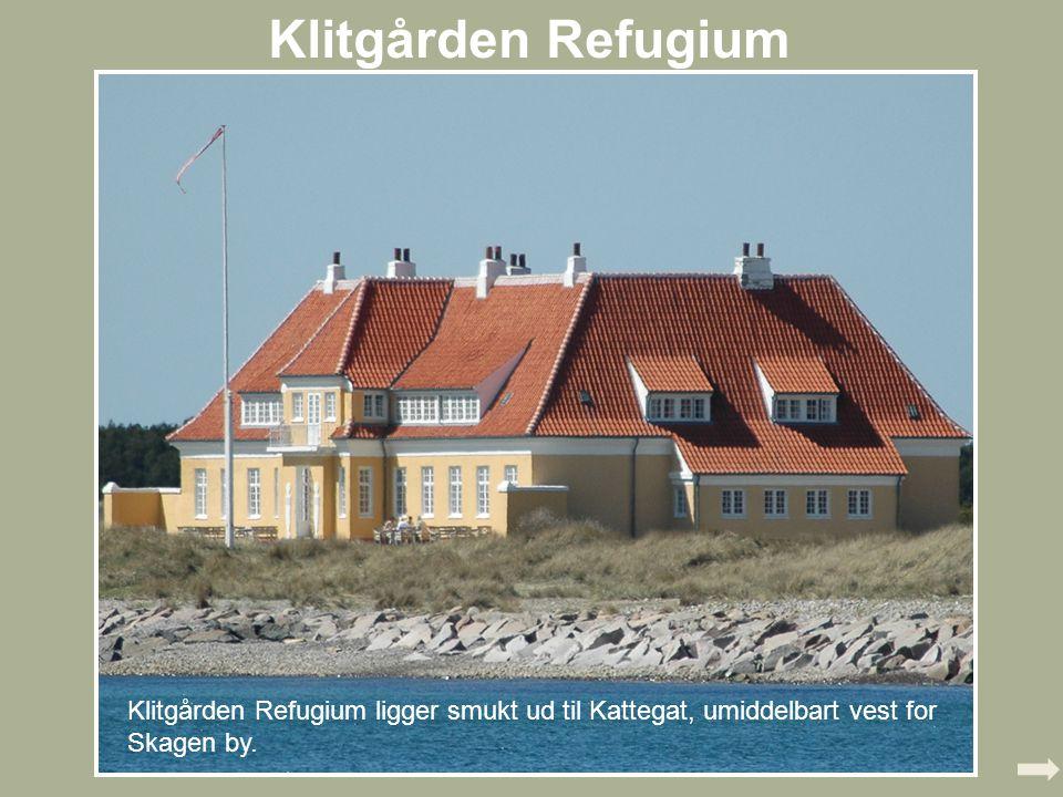 Klitgården Refugium,, Et kig ind: Havstuen Silhuetklip af skagensmalerne på balkonen Et af de tre ateliers