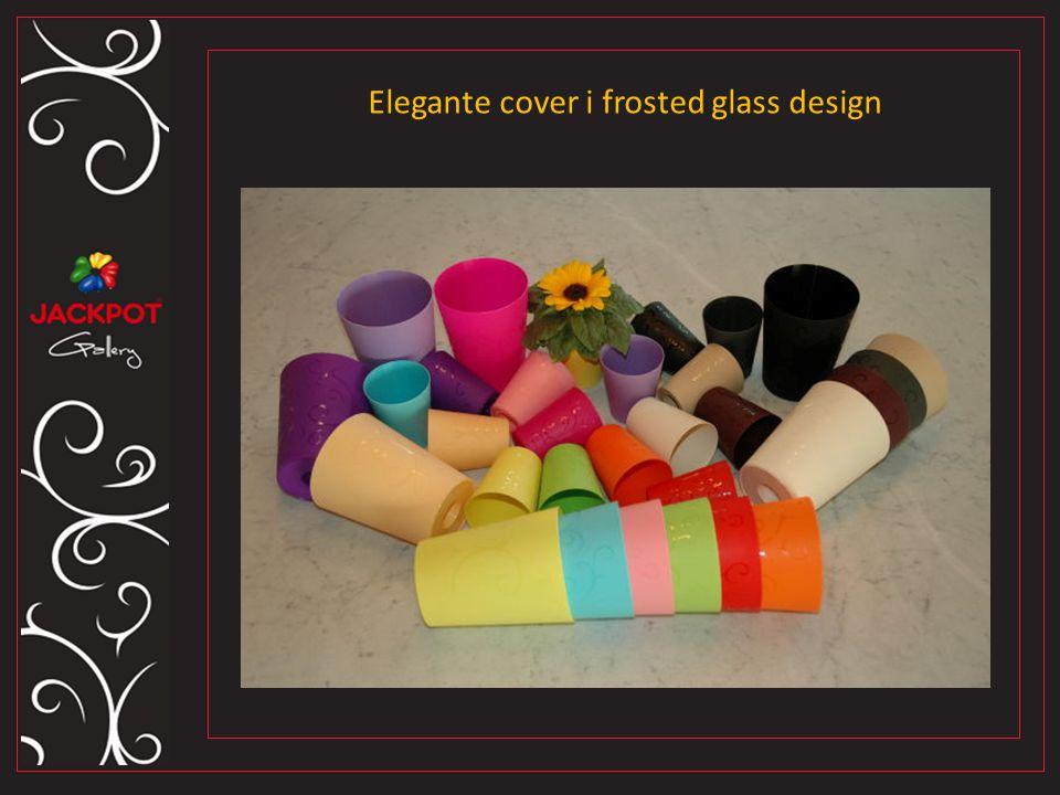 Elegante cover i frosted glass design