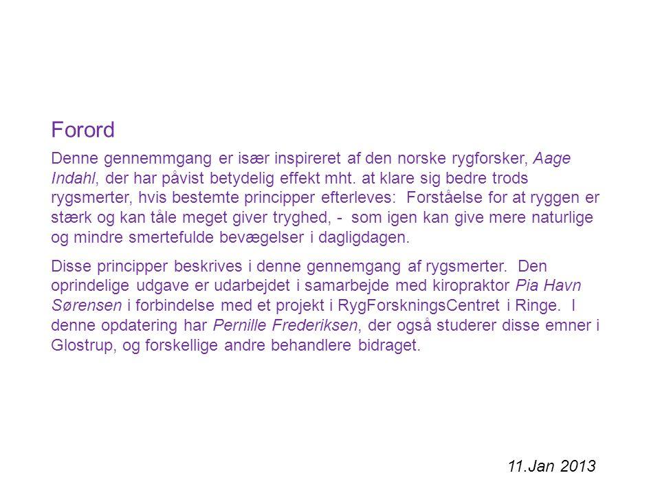 - Discus' betydning for RYG-smerte 1.Anatomi 3. Sygdomsmekanismer - (U)sikkerhed bag diagnosen 4.
