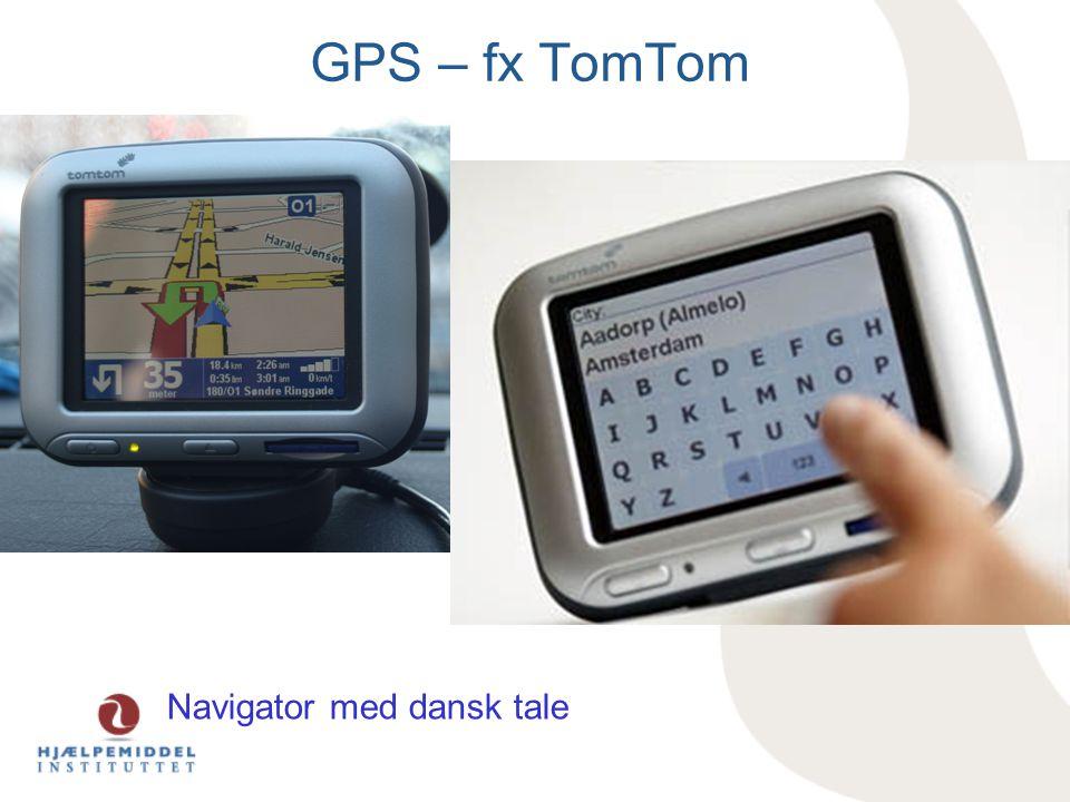 Navigator med dansk tale GPS – fx TomTom