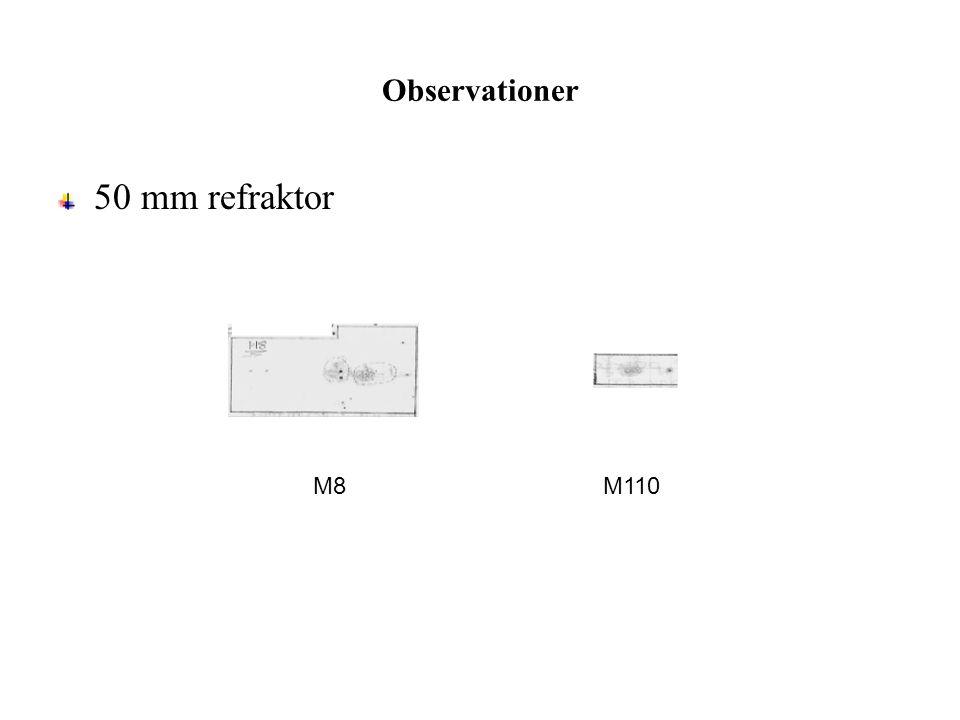 Observationer 50 mm refraktor M8M110