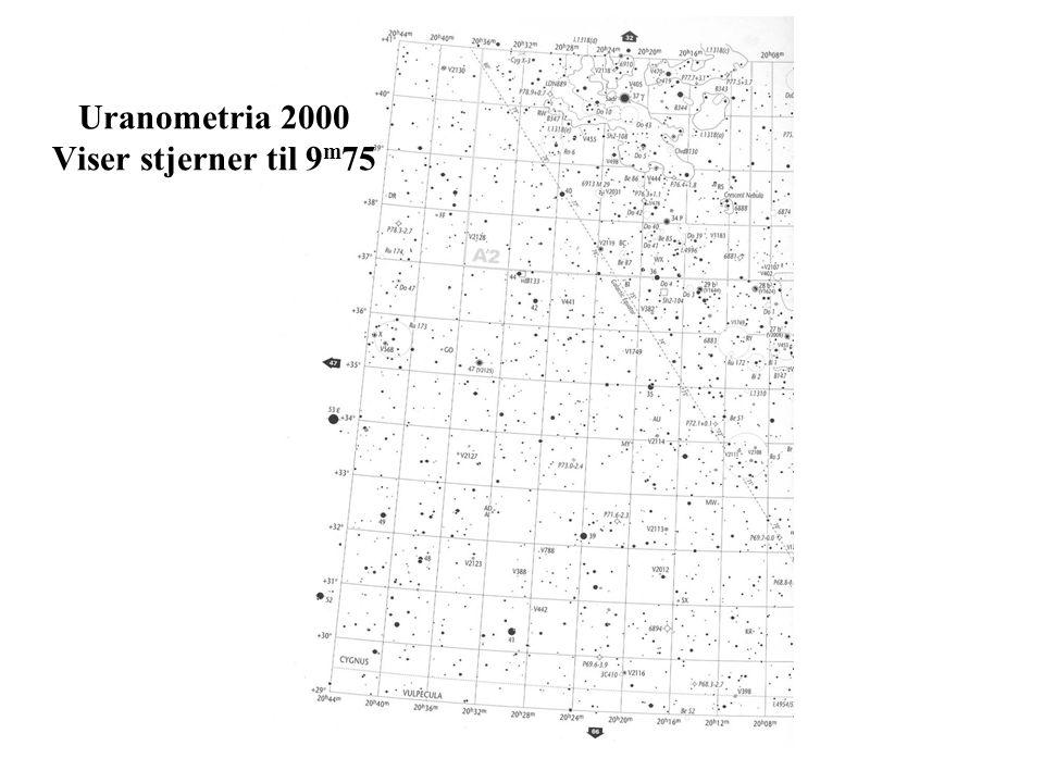 Uranometria 2000 Viser stjerner til 9 m 75