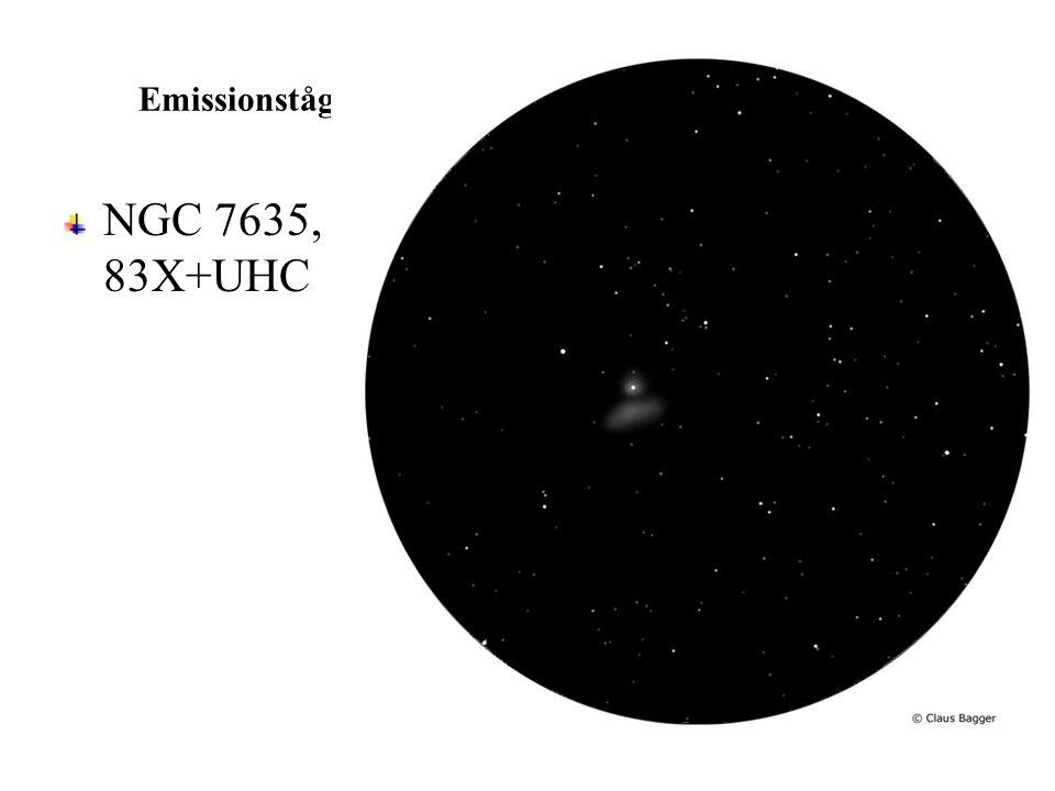 Emissionståge NGC 7635, Bobbel-tågen, 508 mm, 83X+UHC