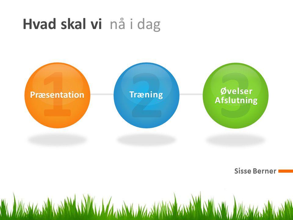 Hvad skal vi nå i dag Sisse Berner 1 Præsentation 2 Træning 3 ØvelserAfslutning