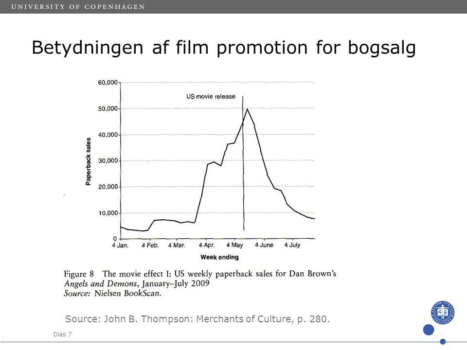 Dias 7 Betydningen af film promotion for bogsalg Source: John B.