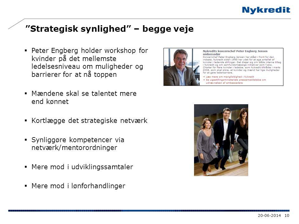 """""""Strategisk synlighed"""" – begge veje  Peter Engberg holder workshop for kvinder på det mellemste ledelsesniveau om muligheder og barrierer for at nå t"""