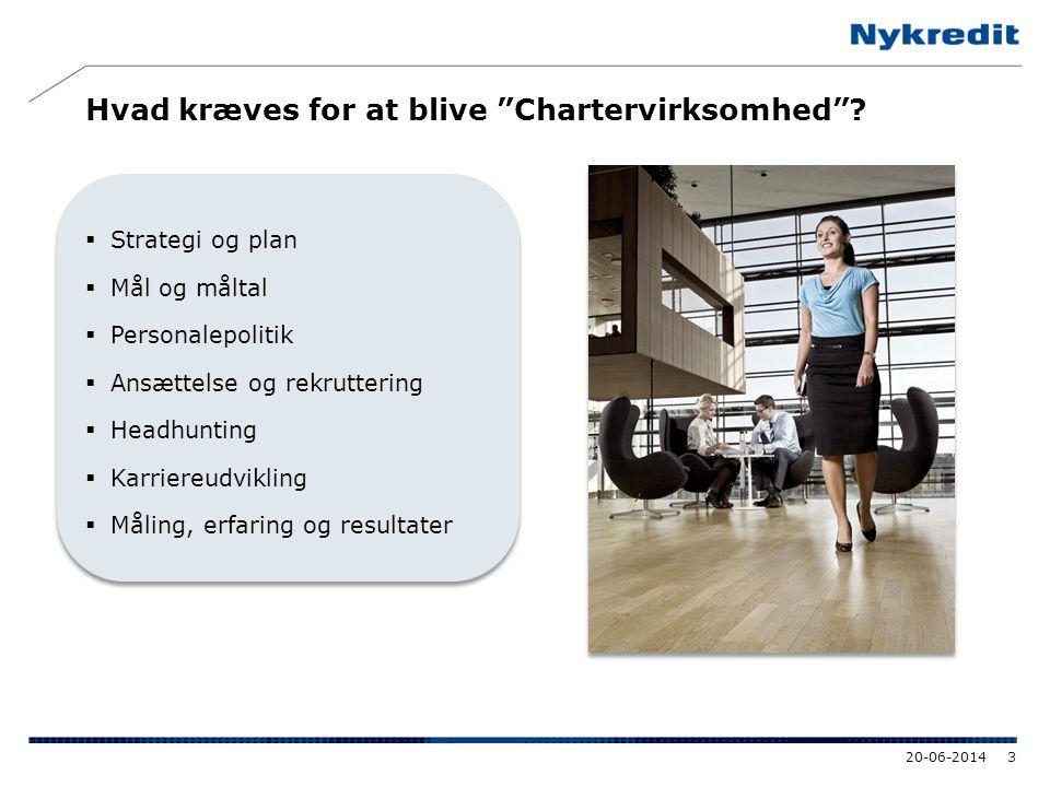 """Hvad kræves for at blive """"Chartervirksomhed""""?  Strategi og plan  Mål og måltal  Personalepolitik  Ansættelse og rekruttering  Headhunting  Karri"""