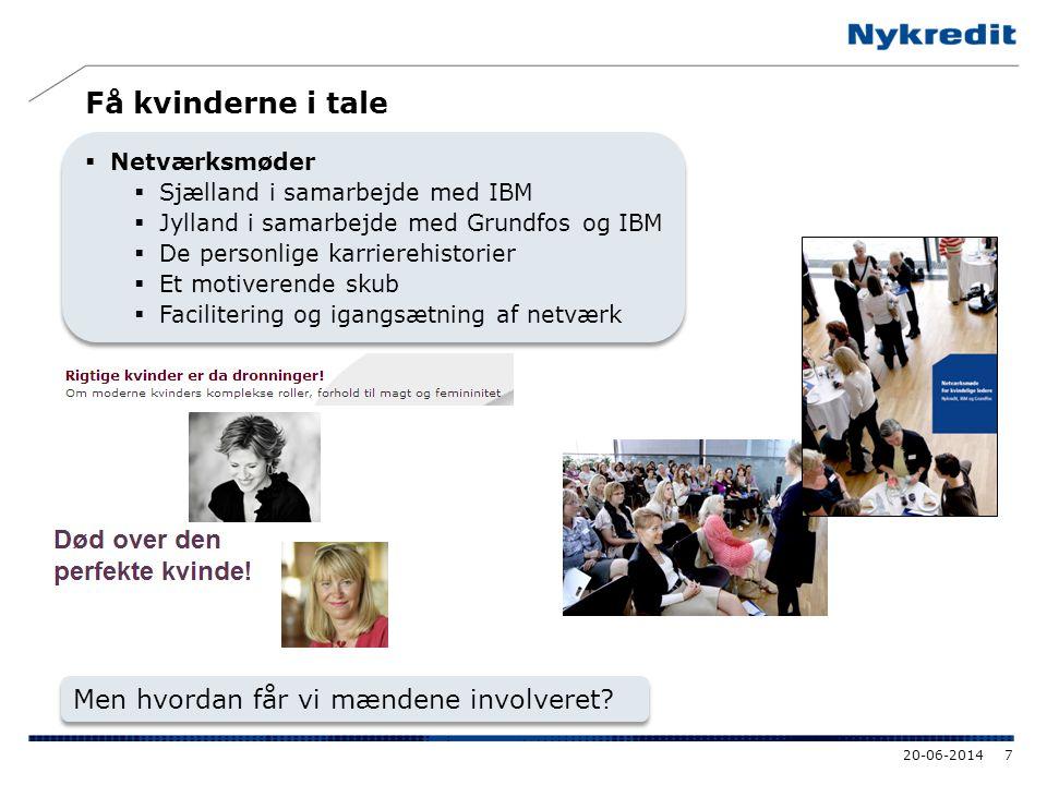 Få kvinderne i tale  Netværksmøder  Sjælland i samarbejde med IBM  Jylland i samarbejde med Grundfos og IBM  De personlige karrierehistorier  Et