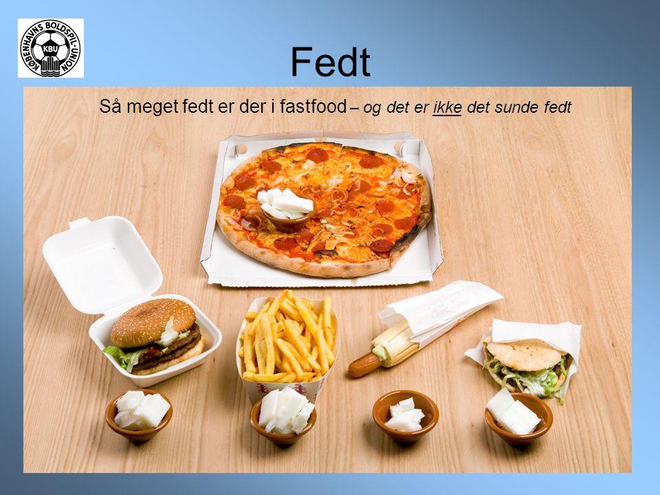 Fedt Så meget fedt er der i fastfood – og det er ikke det sunde fedt
