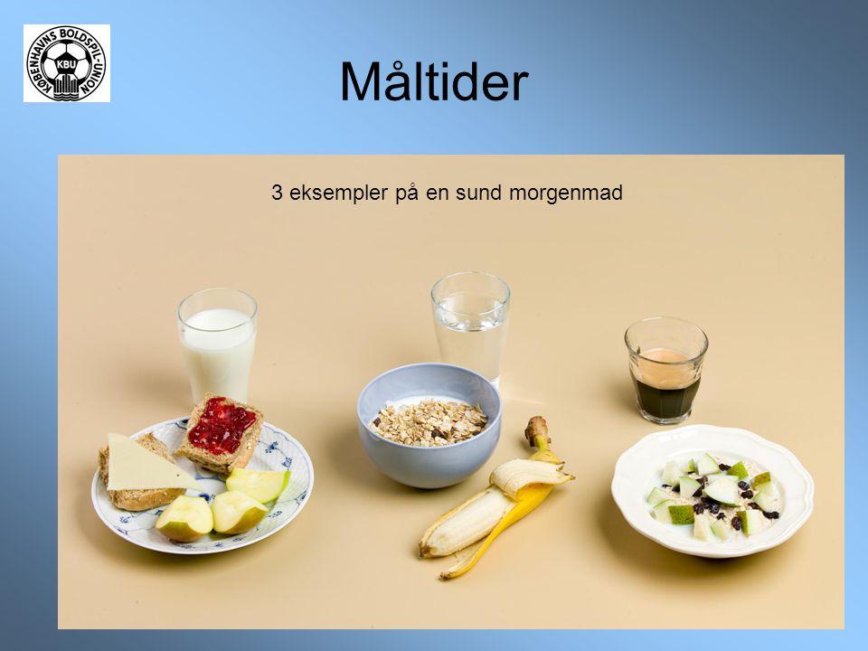 Måltider 3 eksempler på en sund morgenmad