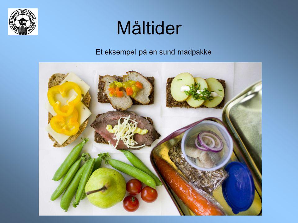 Måltider Et eksempel på en sund madpakke
