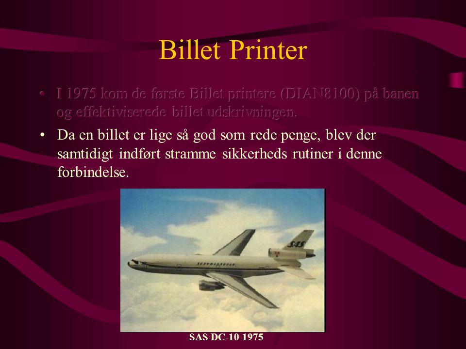 Billet Printer SAS DC-10 1975