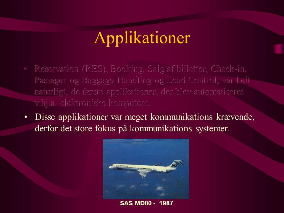 Applikationer SAS MD80 - 1987