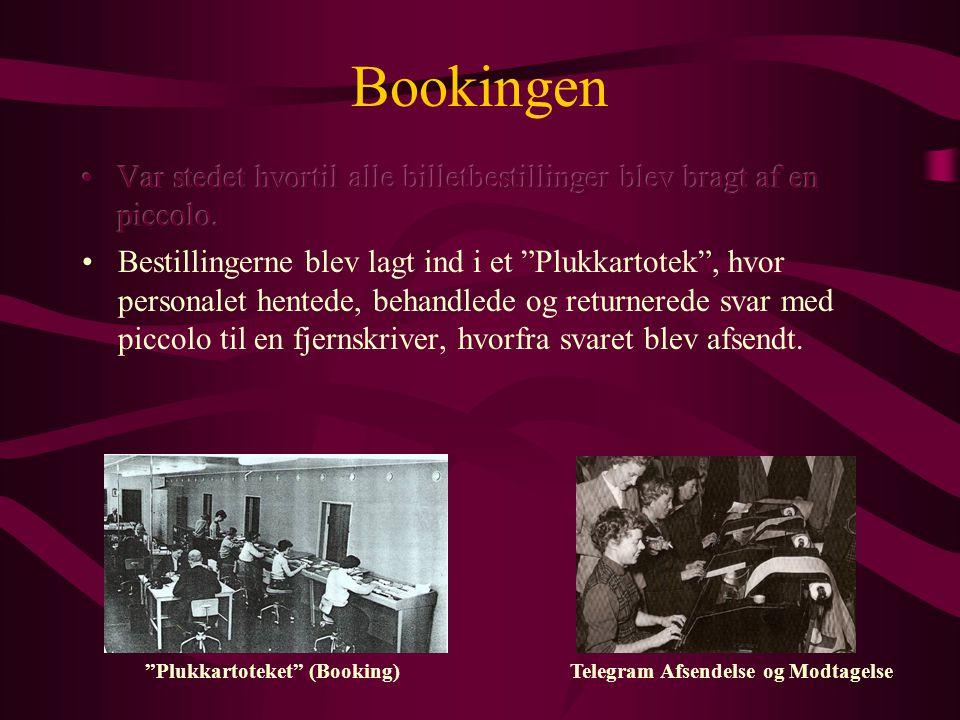Bookingen Plukkartoteket (Booking) Telegram Afsendelse og Modtagelse