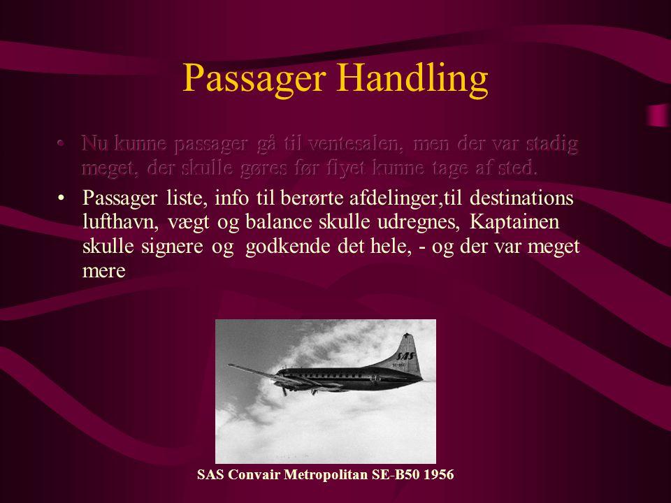 Passager Handling SAS Convair Metropolitan SE-B50 1956