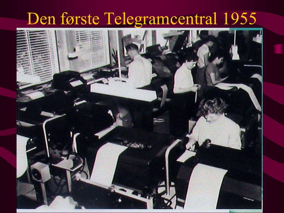 Den første Telegramcentral 1955
