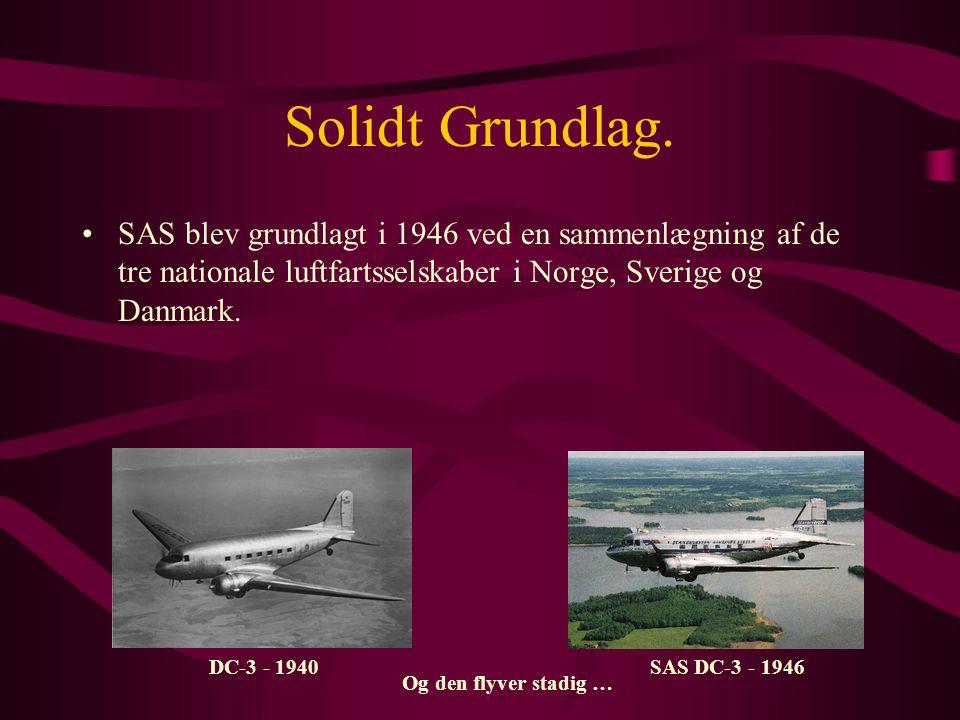 Status så langt … •Vi var med beslutningen om køb af IBM 1410 blevet det mest avancerede luftfartsselskab i Europa med henblik på overgang til dataservice.
