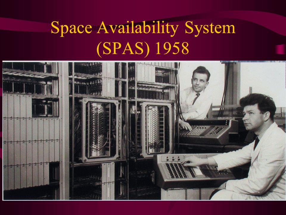 Space Availability System (SPAS) 1958