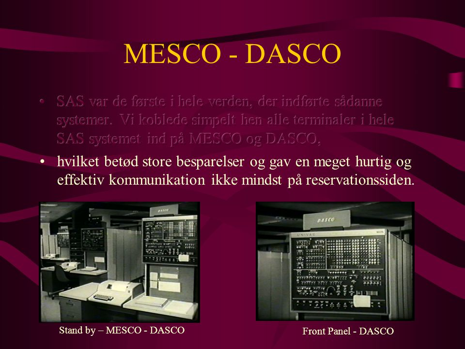 MESCO - DASCO Stand by – MESCO - DASCO Front Panel - DASCO