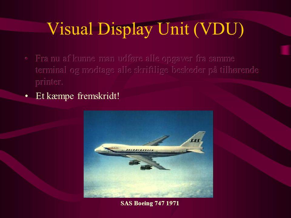 Visual Display Unit (VDU) SAS Boeing 747 1971