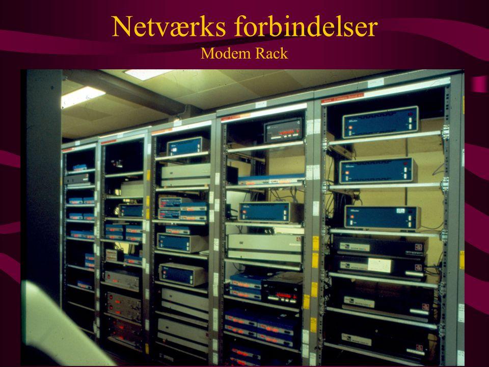 Netværks forbindelser Modem Rack